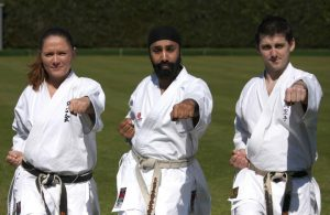 Khalsa with Sat instructors 300x195 - Karate success at YMCA Hawker