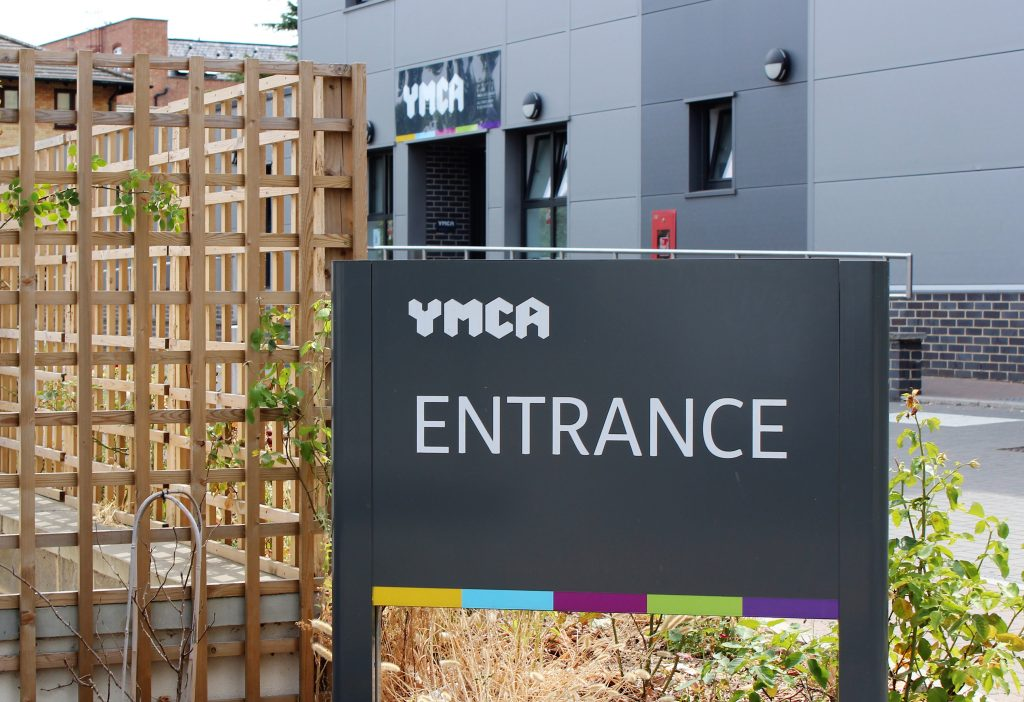 entrance sign to YMCA Walthamstow
