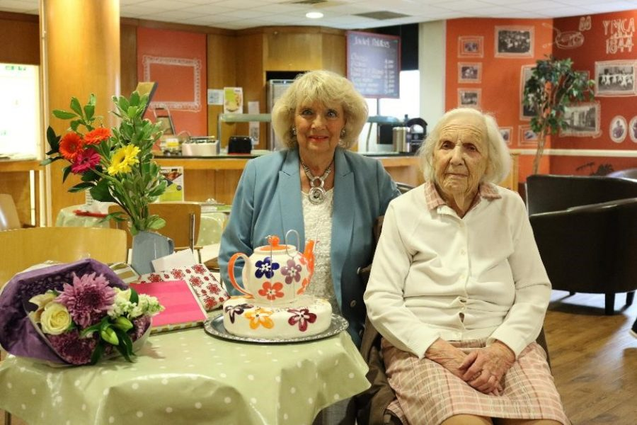 Celebrating 104th birthday at YMCA Surbiton Teapot Club