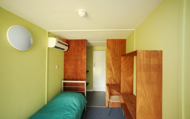 Inside YMCA accommodation bedroom