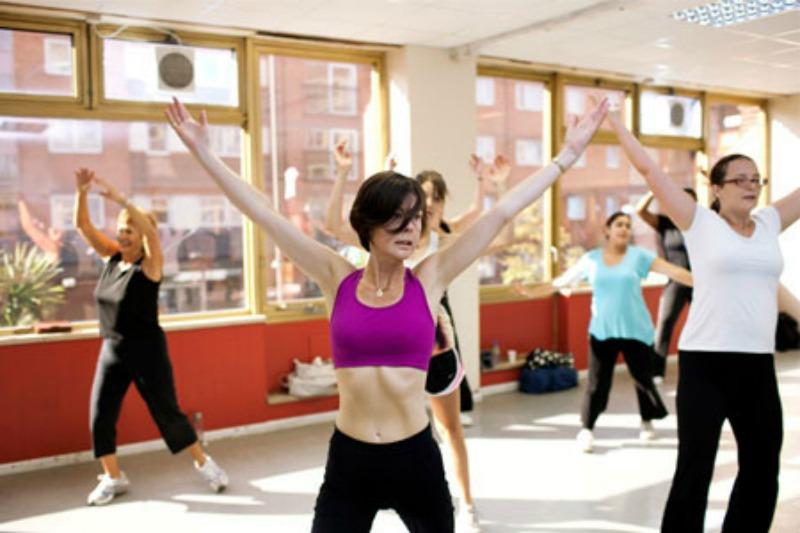 Women in fitness class