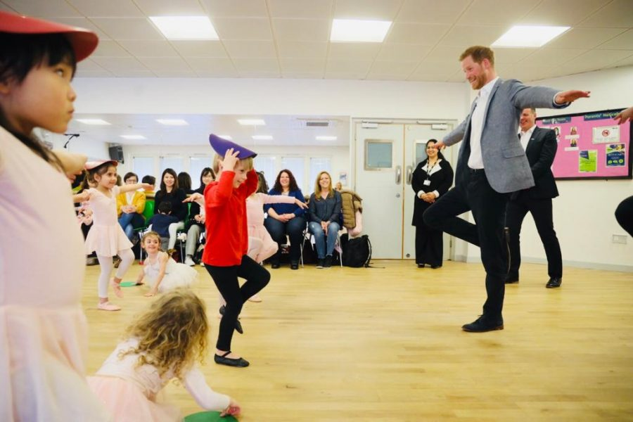 children's ballet session with Prince Harry