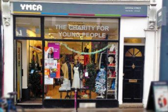 YMCA Goodge street charity shop front