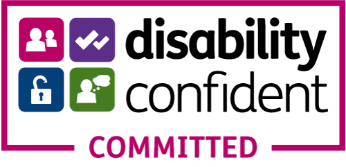 committed Disability confident badge