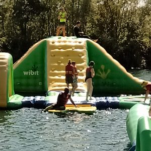 Water inflatables at liquid leisure