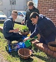 boys gardening - FAB Club - for young people