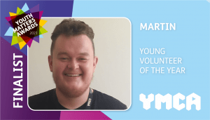 ymca youth matters finalist volunteer rectangle Martin 300x171 - Finalists Announced For Youth Matters Awards 2021