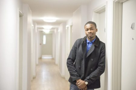 Young man at South Ealing hostel