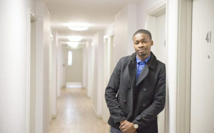 Young man at South Ealing hostel