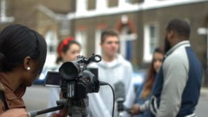 Filmmaking group of young people 300x169 - Plug into... AMP (Arts, Media and Performing Arts)