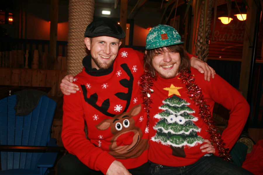 Lads in Christmas Jumpers for soon be Christmas Project