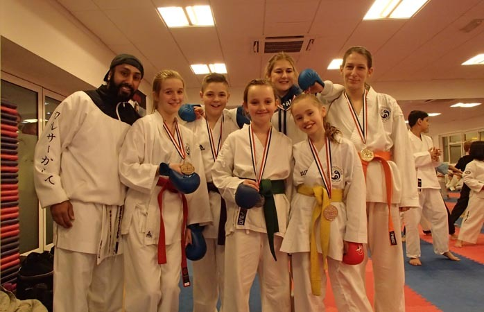Medal winners Khalsa - Karate Fever in Kingston