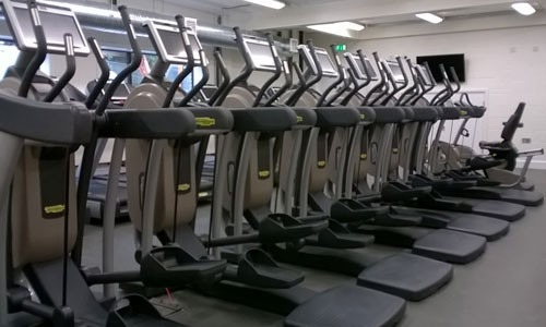 exercise machines in gym